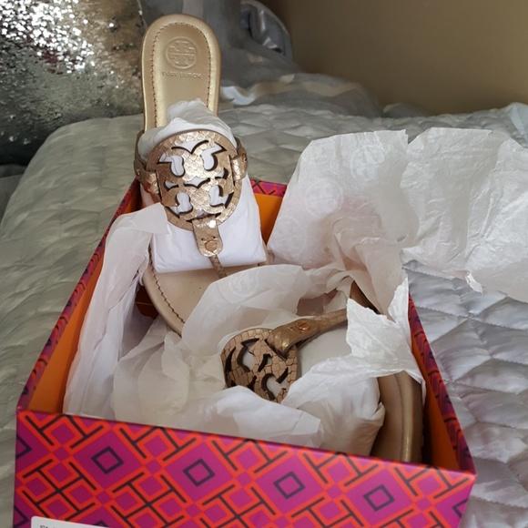 c722d8c5c Tory Burch Shoes - NIB Tory Burch Miller Rose Gold metallic glossy sn